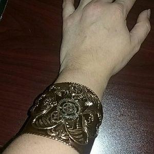 Jewelry - Handmade steampunk cuff bracelet